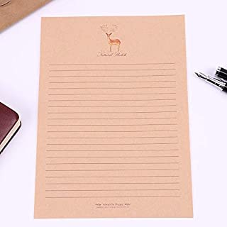 10 Sheets/Set New Letter Pad European Vintage Style Writing Paper Letter Good Quality Culture Office Stationery (Color : M...