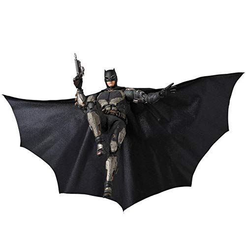 HUANIU Model Statuen Anime-Charakter Superheld Spielzeug Statue Batman Action-Figur Joint Movable + Replacement Zubehör Dekoration Souvenir Black-16cm