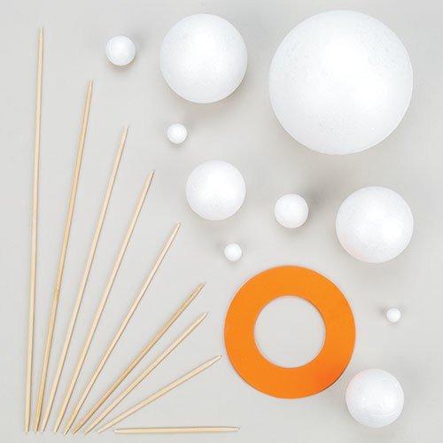 Kit de sistema solar para hacer tu propio sistema con bolas de poliestireno, piezas de...