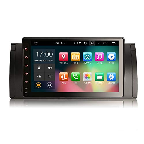 ERISIN Autoradio Android 10.0 da 9 pollici per BMW Serie 5 E39 E53 X5 M5 Supporto GPS Sat Nav Carplay Android Auto DSP Bluetooth Wifi DAB + TPMS 8-core RAM 4GB + 64GB ROM
