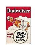 Bar Must-Have-Budweiser Bud cerveza botella metal signo bar placa retro decoración de pared muy adecuada para la familia cerveza Club póster de regalo tamaño 30 x 20 cm (11x7in)