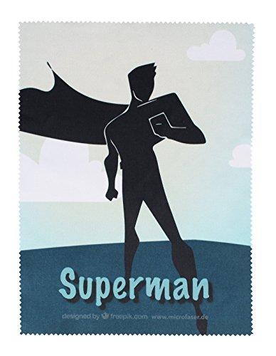 BELLANET Microfaser Brillenputztuch mit Motiv, als Brillentuch, Displayreinigungstuch und für Kameras, ideal geeignet als Geschenk (Superman)