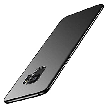 Galaxy S9 Case Slim Thin Soft Flexible TPU Skin Silicone Rubber Gel Lightweight Anti-Scratch Shockproof Phone Cases Protective Cover for Samsung Galaxy S9  Matte Black