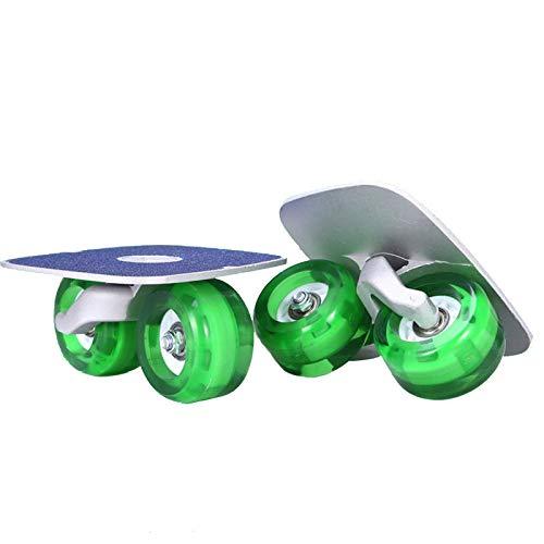 LHY Tabla de Deriva monopatín Dividido con cojinetes de Gama Alta monopatín Dividido patineta portátil con Ruedas monopatín Dividido con Ruedas de PU,C