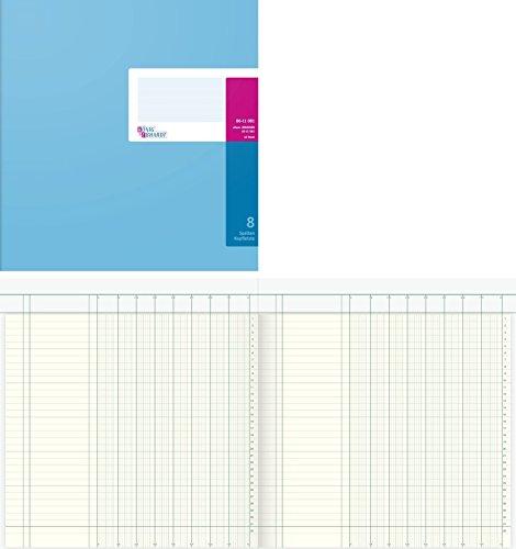 König & Ebhardt 8611081 Geschäftsbuch / Spaltenbuch (27,7x29,7cm, mit Kopfleiste, 8 Spalten, 32 Zeilen, 80g/m², 40 Blatt, Drahtheftung)
