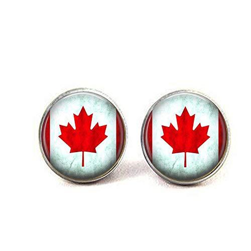 bab Kanadische Flagge – Kanada Jewelry – Ahornblatt – Geschenk für kanadische Ohrringe – Buch Ohrringe – Bibel Zitat Anhänger – religiös