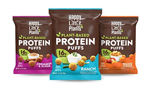 HAPPY LITTLE PLANTS Protein Puffs, Variety Pack, 1.25 Ounce (Pack of 12) from AmazonUs/HOHI9