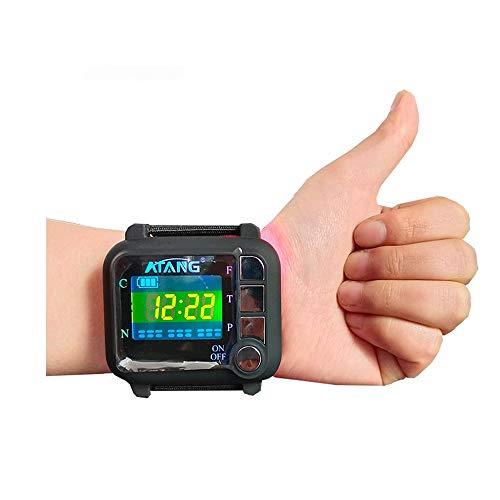 Reloj láser frío Terapia Reloj de pulsera Diabetes Rinitis Presión arterial alta Reducción de la viscosidad sanguínea