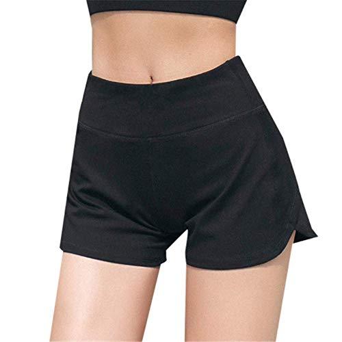 Layor Boutiques Pantalon De Yoga Femme Taille Haute, Short De Yoga Respirant à Séchage Rapide Et à Séchage Rapide Noir XL