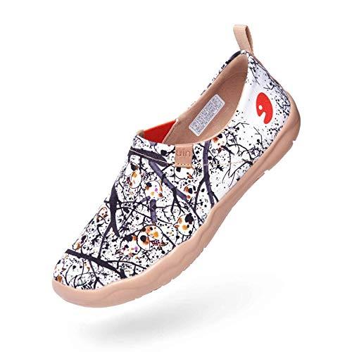 UIN Blanco Zapatillas Granada de Tinta el Naturalista Comodos Verano Planos Mujer Pintura de Granada 42