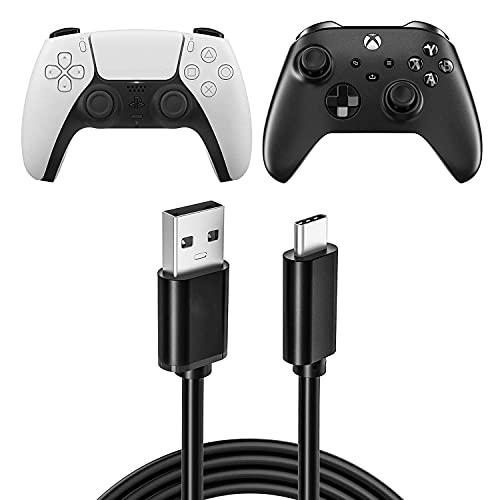 Cavo di ricarica USB per PS5 Controller Nintendo Switch, USB 3.0 ricarica veloce tipo C cavo di ricarica compatibile con Xbox Series X/Series S Sony PS5 Dual Sense, Nintendo Swith e Switch Lite