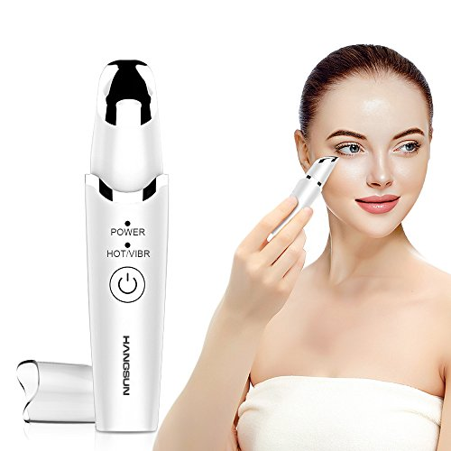 Hangsun Augenmassagegerät Sonic Anti-Aging,42 ℃ Beheizte EM60 Antifalten Massagegerät für Schwellungen, Dunkle Augenringe, Batteriebetrieben