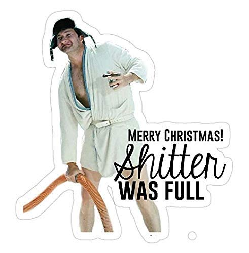 Pack of 4 Stickers - Cousin Eddie: Merry Christmas, National Lampoons Christmas Vacation Sticker