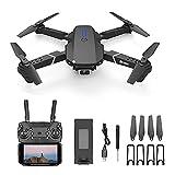 WECDS Drone portátil con cámara Dual, fotografía aérea 4k HD UAV Quadcopter Profesional WiFi Drones de Control Remoto para Adultos, Minutos Largos, Tiempo de Vuelo, Estuche de Transporte