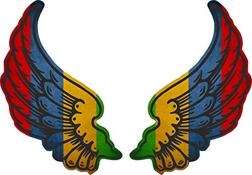 Akachafactory sticker vleugel motorfiets biker vlag vlag MS Mauritius