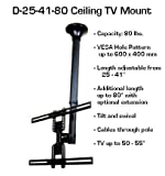 Extra long Ceiling LCD TV Mount 25, 40 or 80 inch long