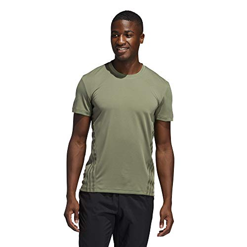 adidas Camiseta Aeroready 3s de Manga Corta para Hombre, Hombre, Manga Corta, GLC03, Verde, XXL