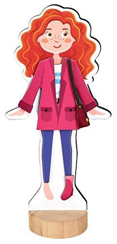 Moses. 38073 Anziehpuppe | Magnetisches-Spielzeug für Mädchen | Mit 31 Kleidungsstücken und Accessoires