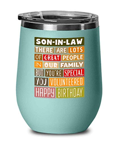 12 oz Wine Tumbler With Lid, Birthday Happy Birthday From Your Favourite Child Funny Happy Cake Candle Parent For Family B3St Friend Mom Dad Men Women Edition Vacuum Stainless Steel Travel Mug