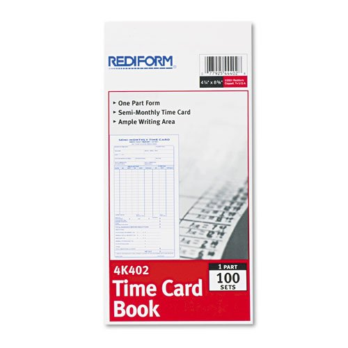 FORM;TIME CARD;4.25X8