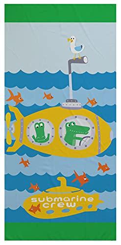 Stillshine. Toalla de Playa para Niños de Dibujos Animados Oceano Animal,Poliéster, Secado Rápido, Suave y Grande (Cocodrilo,150 × 180 cm)