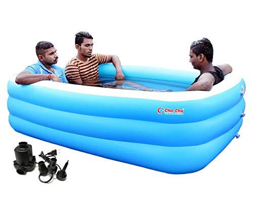 Cho-Cho Inflatable Bath Tubs Swimming Pool for Kids and Adults (Spa) Jumbo Bath Tub 6.5 Feet.