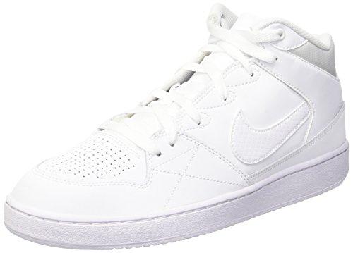 Nike Herren Priority Mid Basketballschuhe, Blanco (White/White), 44 1/2 EU
