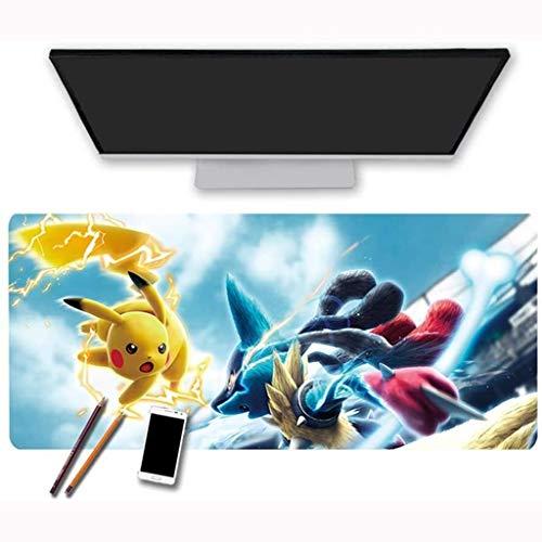 Gaming Alfombrilla de Ratón Grande Gaming Mouse Pad Pikachu Pokémon Pokémon Gran Mapa de Ratón Extendido Matera del Teclado Mousepad de Gran tamaño para Computer PC Desk Home Office