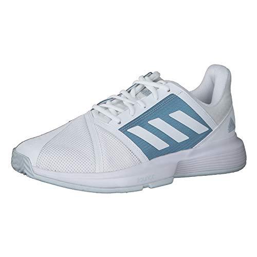 adidas CourtJam Bounce M, Zapatillas de Tenis Hombre, FTWBLA/FTWBLA/AZUBRU, 39 1/3 EU