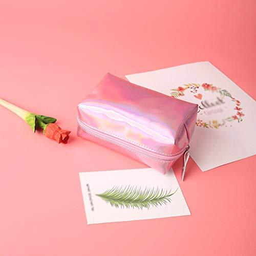SAGIUSDM Étanche Laser Cosmétique Sacs FemmesMake Up Bag Pouch Wash Trousse De Toilette Voyage Organisateur Cas pochette femelle, Rose