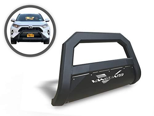 VANGUARD Black Powdercoat Optimus Wide Bull Bar | Compatible with 19-22 Toyota RAV4 Excludes TRD Models