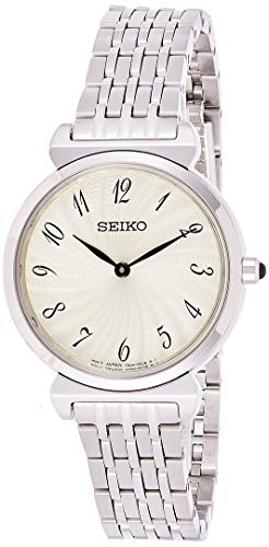 SEIKO Womens Analogue Quartz Watch with Stainless Steel Strap SFQ801P1