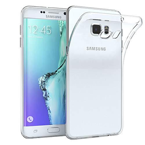 EAZY CASE Hülle kompatibel mit Samsung Galaxy S6 Edge Plus Schutzhülle Silikon, Ultra dünn, Slimcover, Handyhülle, Silikonhülle, Backcover, Durchsichtig, Klar, Transparent