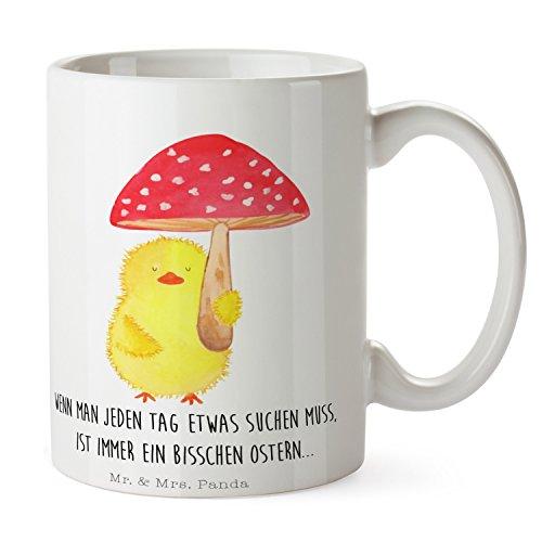 Mr. & Mrs. Panda Tee, Büro, Tasse Küken Fliegenpilz mit Spruch - Farbe Weiß