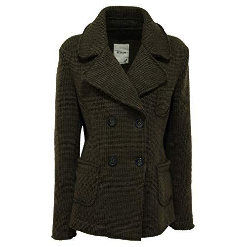 AT.P.CO 7810R Cappotto Donna Telma Verde Melange Coat Woman [XL]