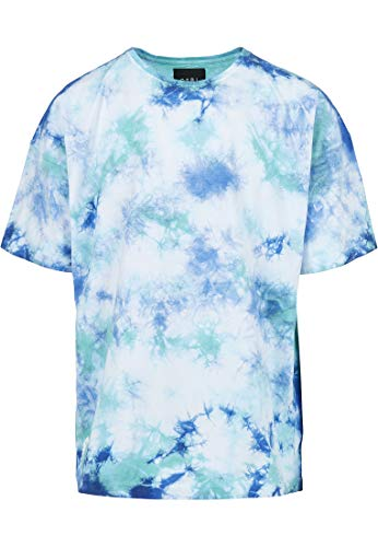 Cayler & Sons Men's CSBL Meaning of Life Tie Dye Box Tee T-Shirt, wht/blu, XL