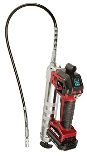 ALEMITE, 596A1, 596-A1 Battery-Powered Grease Gun, Red; Black; Silver
