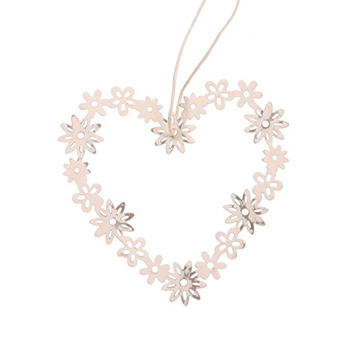 Vintage Heart Daisy Decoration