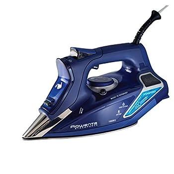 Rowenta DW9280 Digital Display Steam Iron Stainless Steel Soleplate 1800-Watt 400-Hole Blue