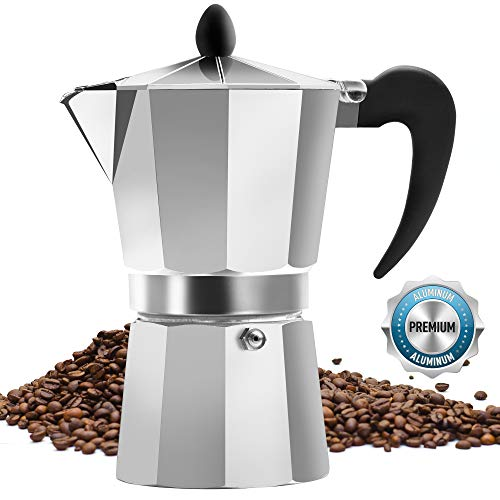 Classic Stovetop Espresso Maker for Great Flavored Strong Espresso, Classic Italian Style 5 Espresso Cup Moka Pot, Makes Delicious Coffee, Easy to Operate & Quick Cleanup Pot - by Zulay Kitchen