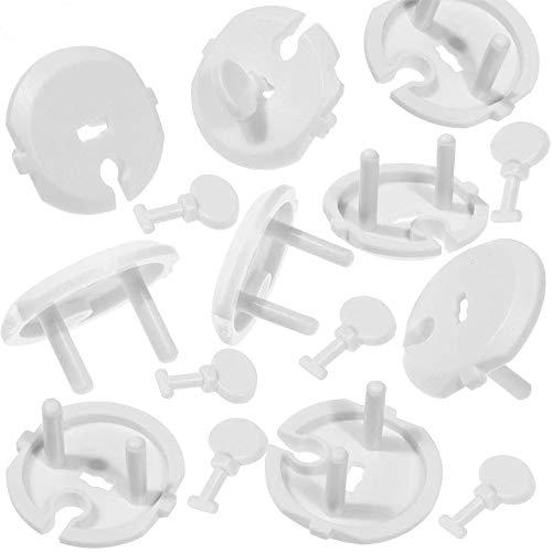 Faburo 20pcs Cache Prise Bébé avec 5pcs Clé Prise de Courant avec Cache-Prises à mécanisme tournant - Sécurité Enfant