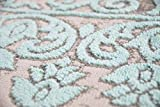Merinos Wohnzimmerteppich mit Ornamenten Teppich Vintage in Türkis Grau Größe 80x150 cm - 5