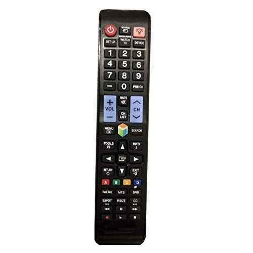 Easy Replacement Remote Control Fit for Samsung UN75F7100 UN65F7100 UN60F7100 UN48H6350AF UN40H6350AF UN32H6350AF 4K Smart 3D LCD LED HDTV TV