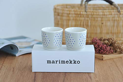 『marimekko PUKETTI ラテマグ 2個セット ベージュ 82【67286】』の5枚目の画像