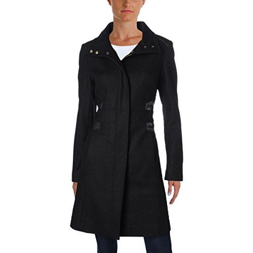 Price comparison product image Via Spiga Womens Fall Wool Maxi Coat Black 16