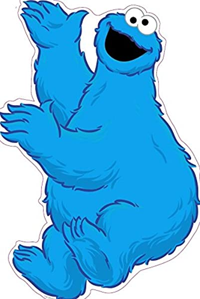 11 Inch Cookie Monster Sesame Street Removable Wall Decal Sticker Art Home Kids Room Decor Decoration 9 By 11 Inches
