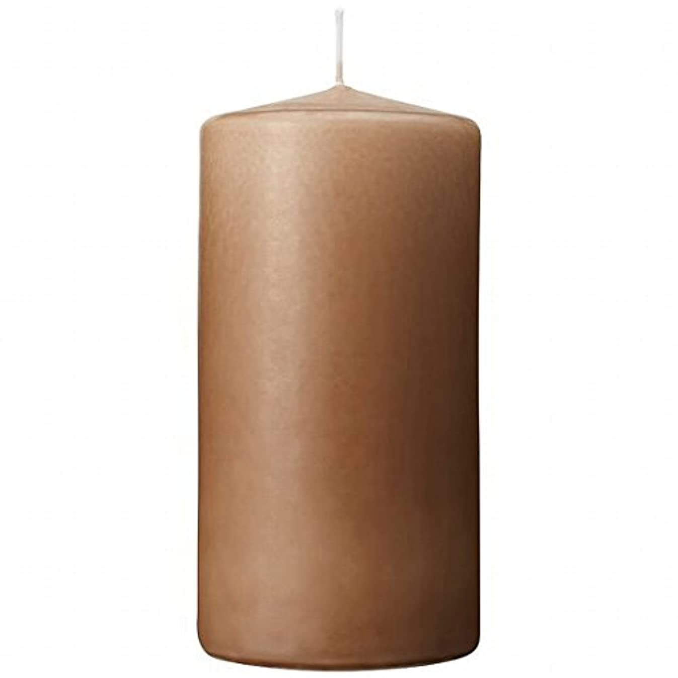 火傷敏感な犯罪カメヤマキャンドル(kameyama candle) 3×6ベルトップピラーキャンドル 「 モカ 」