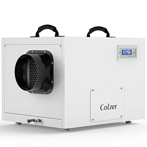 COLZER Crawlspace Commercial Dehumidifier with Pump and Drain Hose 145 Pints/Day (Saturation) 70 Pints/Day (AHAM) Humidity Control for up to 6,000 sq ft Basements, Water Damage Storage