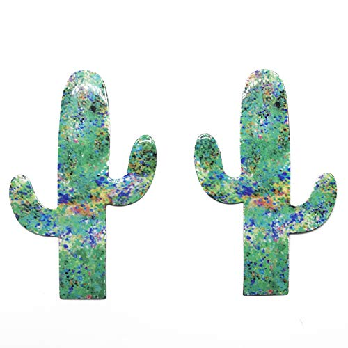 Sonoran Souvenirs Green Cactus Magnetic Screen Saver Sliding Door Lanai Screen Door Magnet Patio Heavy Duty Magnet Gloss Finish