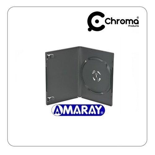 Amaray Lot de 25 boîtiers vides de DVD Noir 14mm